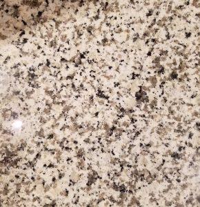 "Bianco Sardo granite circa 2018 referred to as ""rocky road"""