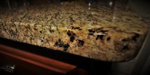 round eased edge granite counter top